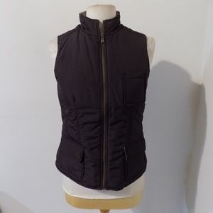 TOMMY BAHAMA Brown Puff Vest Jacket, Small